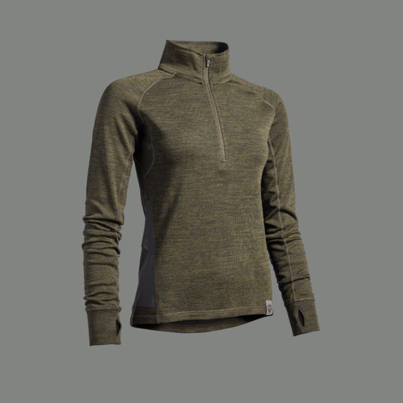 SVANHILD womens merino wool midlayer for hunting jagt jagd