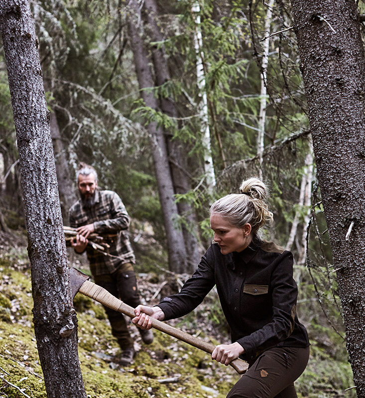 RØSKVA women hunting shirt wool jagt jagd